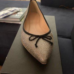 J. Crew Shoes - J Crew Gemma flats - silver glitter new!